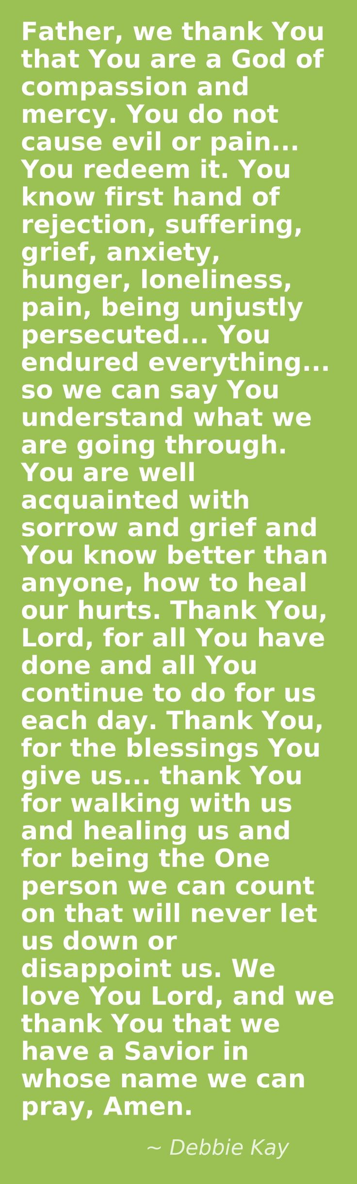 prayer to overcome loneliness, rejection, anxiety. prayer for healing.