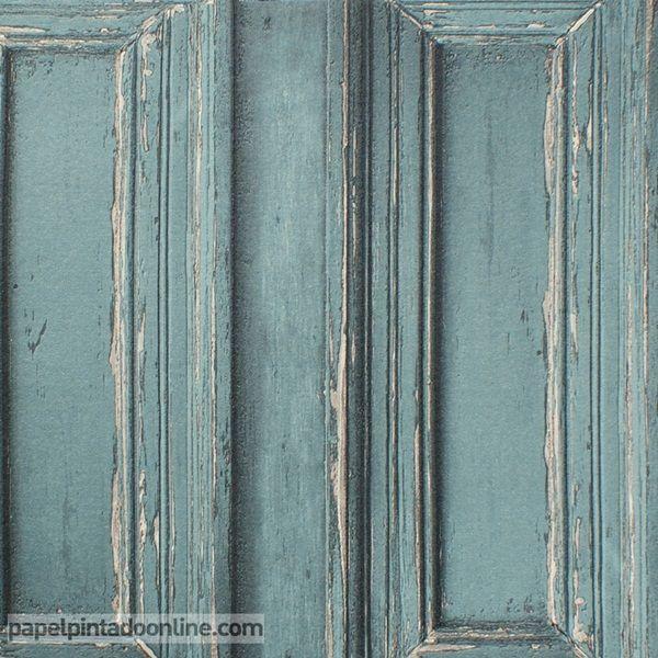 Papel pintado metaphore mte 6566 60 92 imitaci n puerta o for Papel pintado imitacion madera blanca