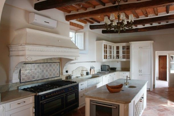 Under the Tuscan Sun villa real life update- kitchen (the one used for the movie- not the actual one)