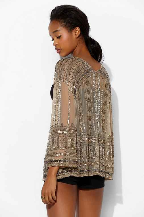 OH MY GOODNESS GRACIOUS SWEET HOLY GOD, I NEED THIS  Ecote Zoe Sequin Mesh Rocker Jacket - Urban Outfitters