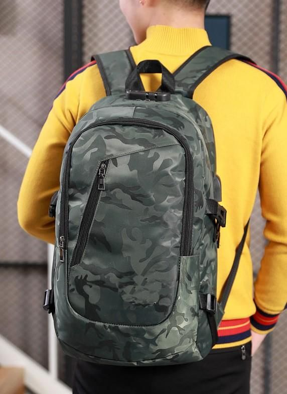 2a681cbccf32 Camouflage BULLETPROOF Anti-Theft USB Backpack... This is a great ...