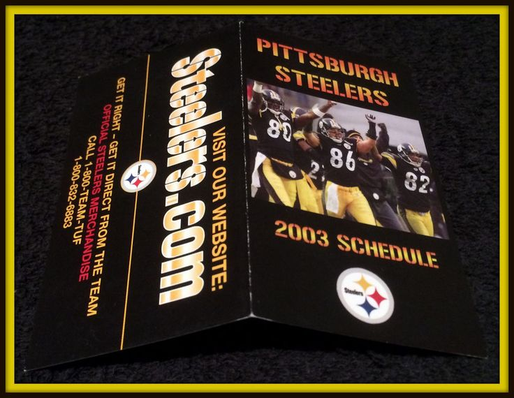 2003 PITTSBURGH STEELERS STEELERS.COM FOOTBALL POCKET SCHEDULE FREE SHIPPING #Pocket #SCHEDULE