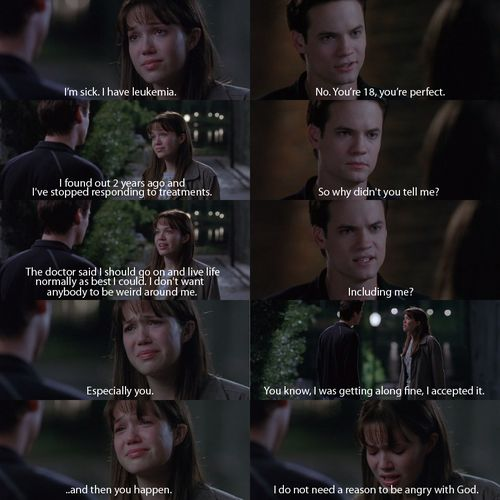 A Walk To Remember - I almost cry at this part. There are so many scenes I…