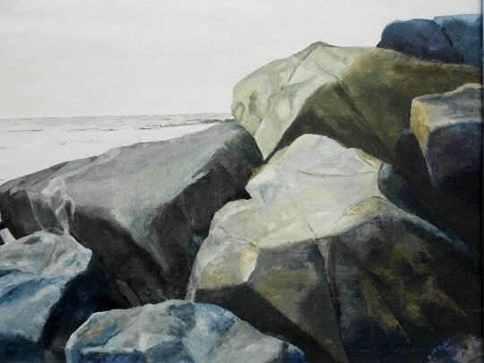 Rocks from the westcoast of Sweden. Oil. 80x60cm. Contact: brittmarie.fabic@gmail.com