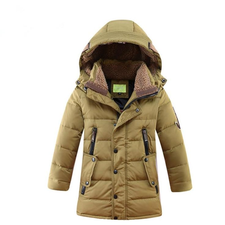 42.05$  Watch more here  - Children Winter Jacket Duck Down Long Thicker Boys Girls Snowsuit Hooded Coat Kids Winter Down Jacket Child Clothing 12 Years
