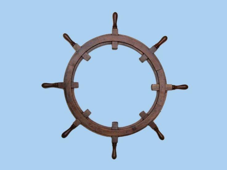 "Wooden Ship Wheel Frame 36"""