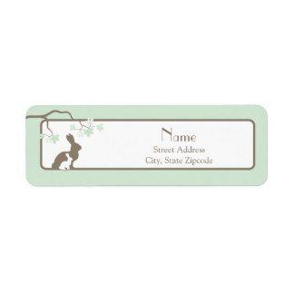 Bunny Rabbit Return Address Labels & Templates | Zazzle