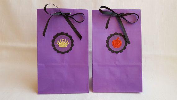 Manzana roja y bolsos de fiesta Favor de corona de oro