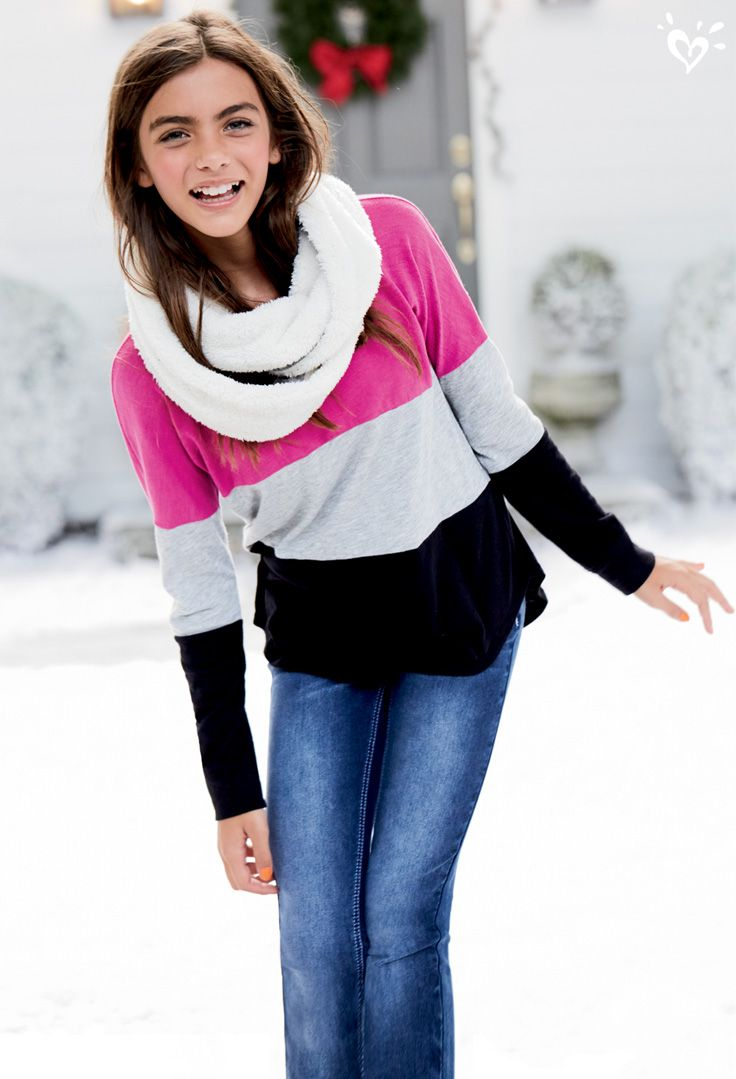 110 Best Images About S T R E T C H Your Legs On Pinterest: Our Can't-Resist Colorblock Top Pairs Perfectly With Jeans