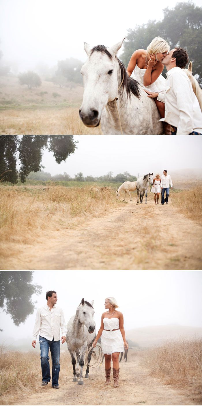 engagement horse shoot