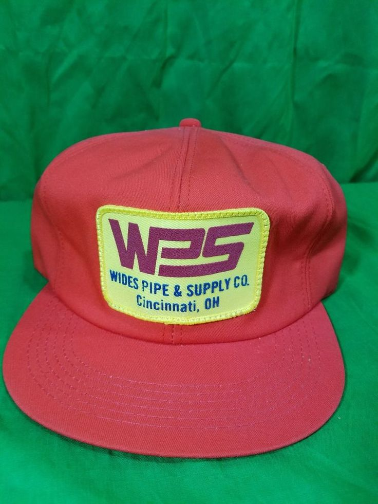 Vintage Wides Pipe Supply Co Hat Snapback  K Products Patch #TruckerCap #KProducts #Trucker