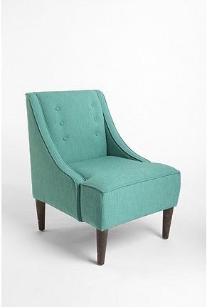 Madeline Chair from urban outfitters 429.00 might be good corner reading chair