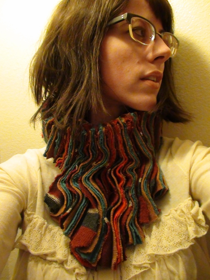 Scarf Re-Invented from sweaters