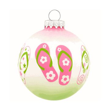 Handcrafted Flip Flop Ornament