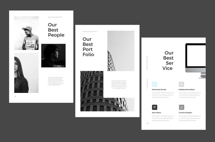 A4 Powerpoint Template for Print  by TempLabs on @creativemarket