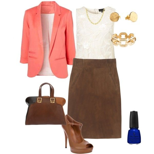 """""""Coral Jacket Option"""" by lisa-eurica on Polyvore"""