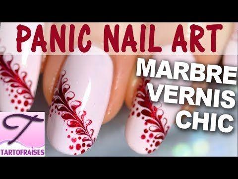 ▶ [Panic nail art] Tuto débutant ruban marbré en 3 min : épingle + vernis - YouTube