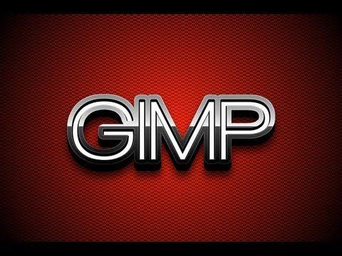 GIMP Tutorial: Glossy Metal 3D Text - YouTube