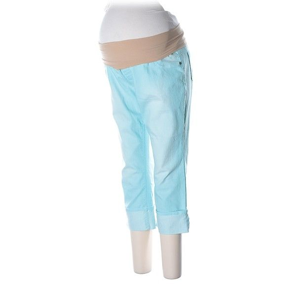 Pre-owned Motherhood Jeans Size 12: Blue Women's Bottoms ($17) ❤ liked on Polyvore featuring blue and motherhood maternity