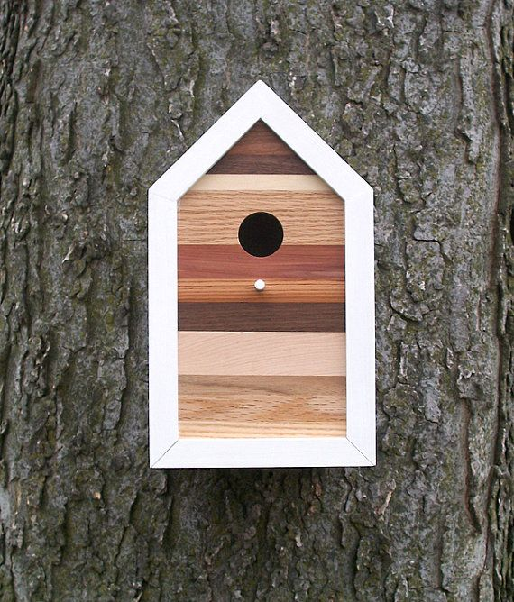 Modern birdhouse. My latest design. Sold.