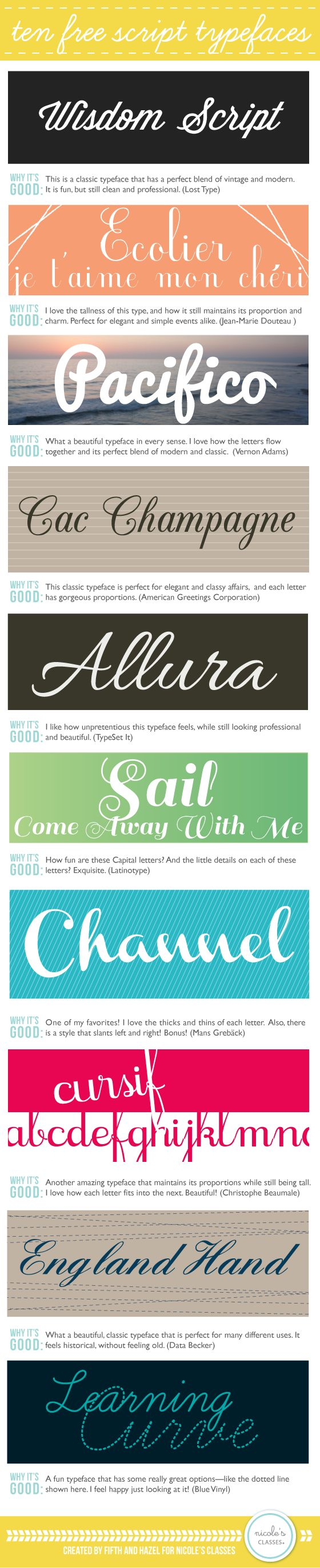 Creative: Over 100 Free Fonts To Download | justb.