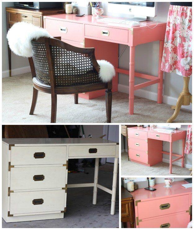 Restauración de un escritorio de campaña:   35 impresionantes maneras de darle nueva vida a los muebles viejos