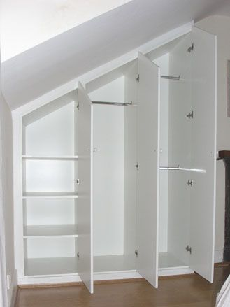 what a great idea ~ wardrobes in loft eaves