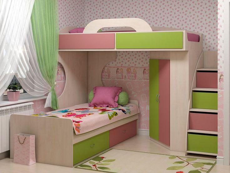 Двухъярусная кровать Dendy pink - элемент мебельной системы Dendy pink. Благодаря этой модульной системе, можно создать уникальный и неповторимый интерьер детской комнаты, спальни или комнаты для занятий. Доставка во все регионы.