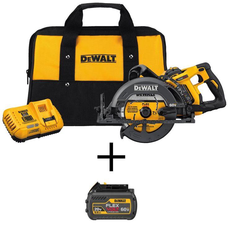 Dewalt Dcs577x1 60 Volt 7 1 4 Inch Worm Drive Circular Saw Kit W 9 0ah Battery Worm Drive Circular Saw Dewalt Worm Drive