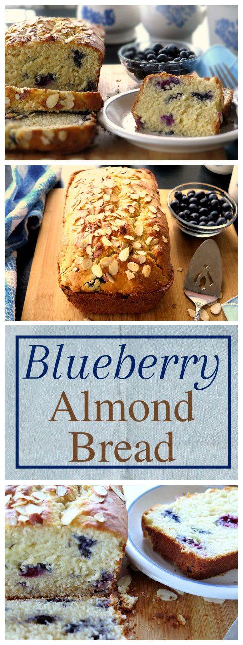 Blueberry Almond Bread full of antioxidants, vitamin B and E and fiber! #BreadBakers