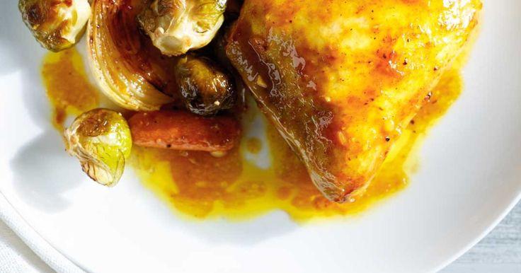 Cuisses de poulet moutarde et miel Recettes   Ricardo