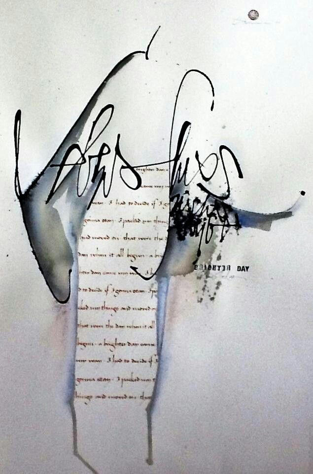 ✍ Sensual Calligraphy Scripts ✍ initials, typography styles and calligraphic art - Sigrid Artmann