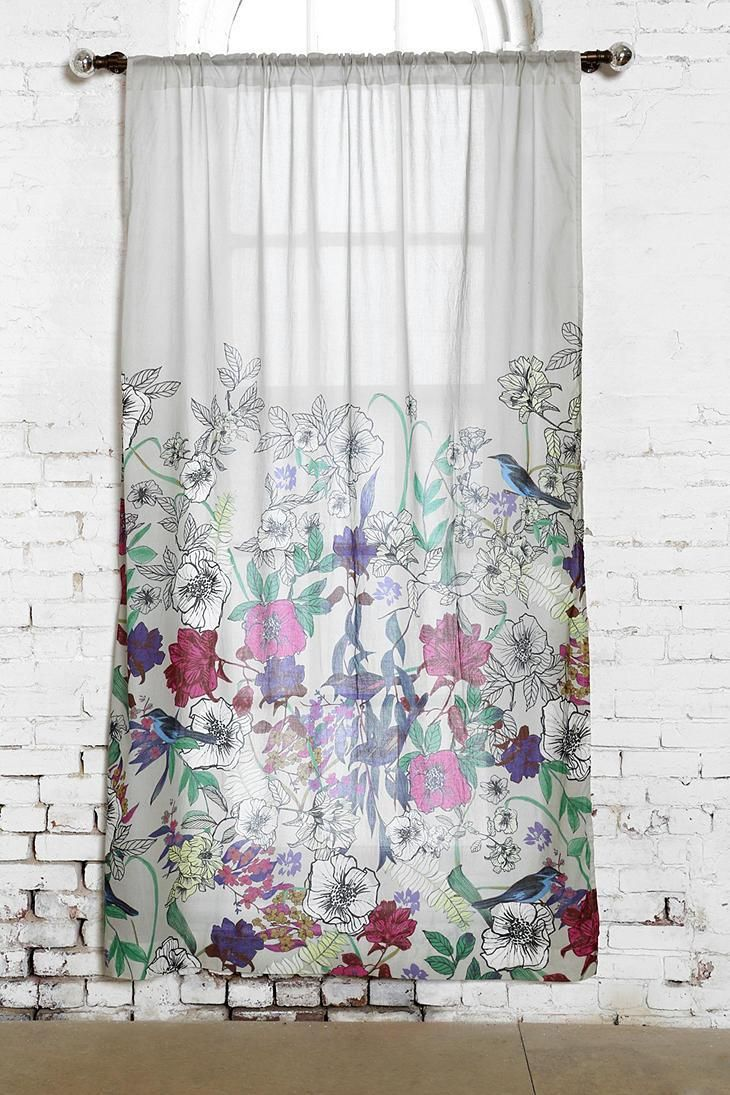 Plum Amp Bow Forest Critter Curtain Urbanoutfitters