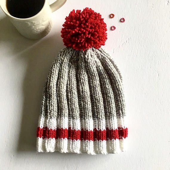 ◆ Made from: 100% acrylic yarn ◆ Machine wash, warm; Lay flat to dry. ◆ Height (without pompom): 9 (23cm) ◆ Height (with pompom): 12 ( 31cm) ◆ Circumference: 15 - 22 (38cm - 56cm)