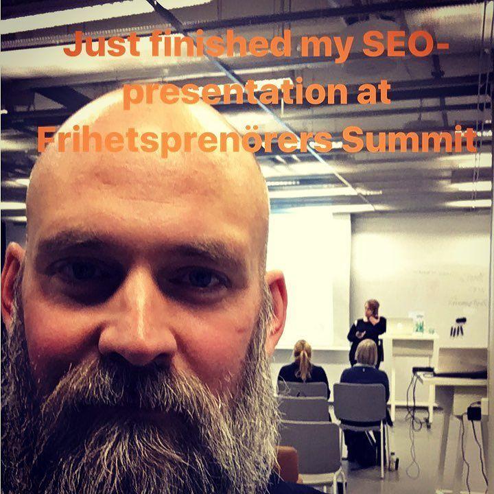 Pratar SEO i Västerås #stockholmseo #seo #sökmotoroptimering #föreläsning