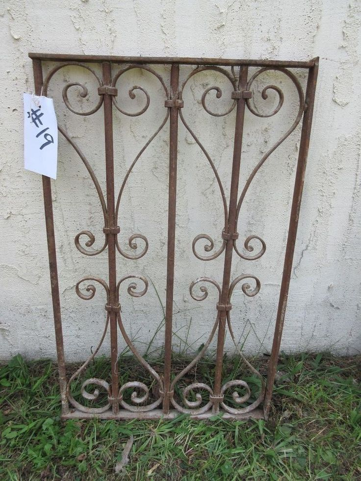 Antique Victorian Iron Gate Window Garden Fence Architectural Salvage Door #19
