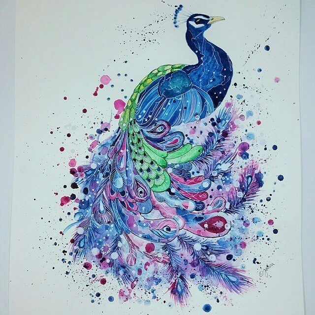 Repost from @scandy_girl Peacock is ready watercolor 36x48cm SOLD. #art #artist #myart #instaartist #watercolor #artwork #peacock #watercolor #watercolorpainting FOLLOW @zbynekkysela & TAG your artworks #BOUCHAC to be FEATURED! HOT TIPS CLICK link in my profile by zbynekkysela