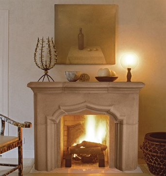 Bordeaux Fireplace Mantel mediterranean fireplaces