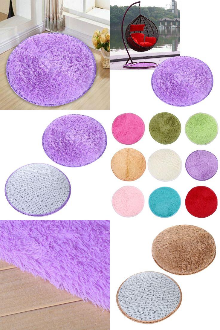 [Visit to Buy] Approx 40cm*2cm Home Decor Bedroom Mat Door Floor Carpet Puzzle Mat Fluffy Round Foam Rug Non Slip Shower Mats   #Advertisement