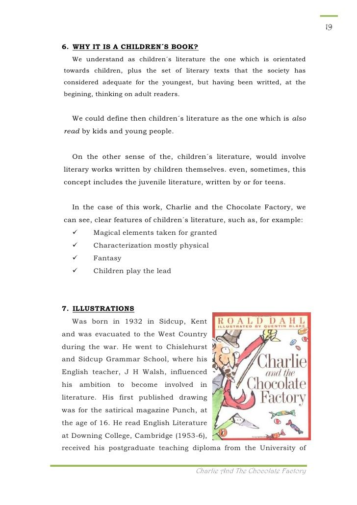 charlie and the chocolate factory book preview