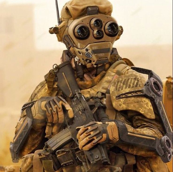 Futuristic Soldier Coyote Brown Tactical Gear