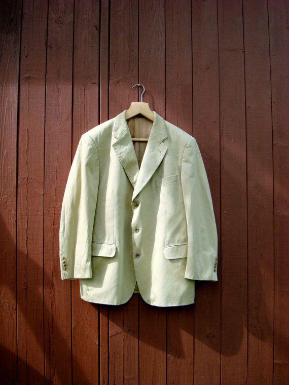 Vintage Burberrys BARRIE mens blazer tan suit от DelicateRetro