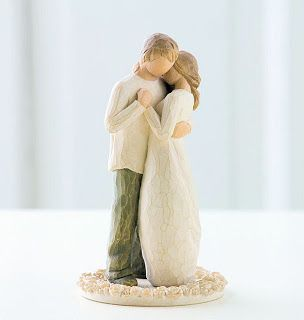 For a wedding cake topper. I don't care how long it is before I get married, I like this look.