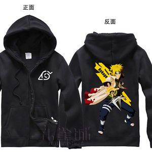 Naruto Clothing Namikaze Minato Hooded Sweatshirt Cosplay Hoodie Winter Coat | eBay