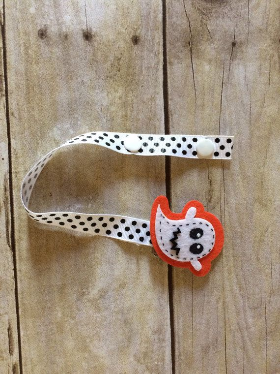 Ghost Baby Pacifier Clip by WyattsPlace on Etsy