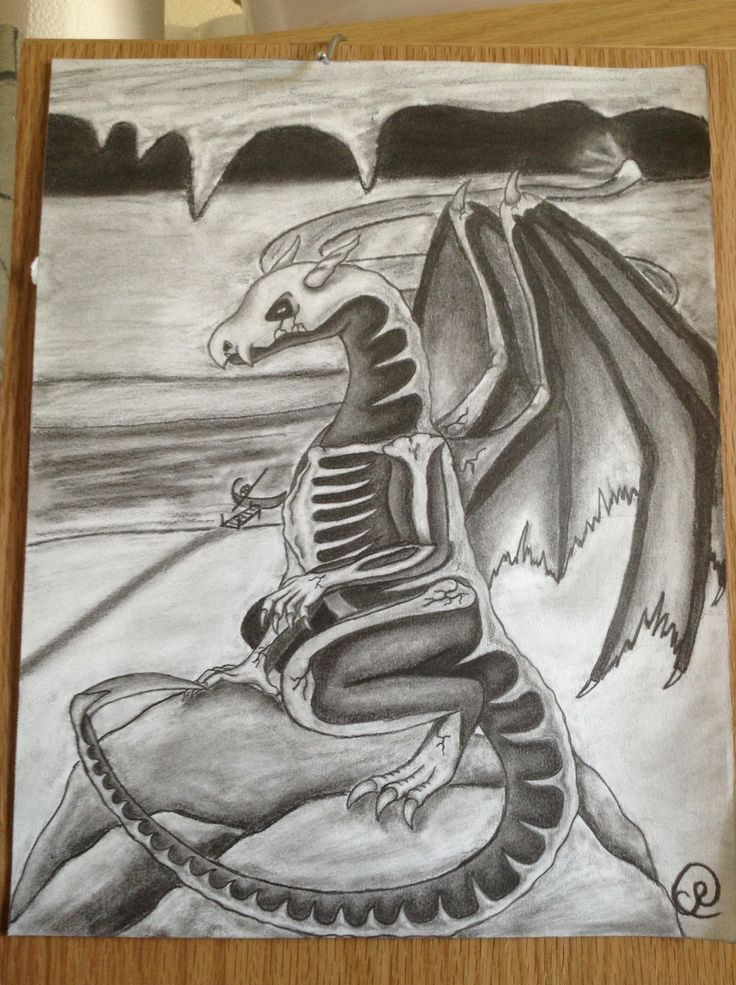 The newly redesigned Skeletal dragon