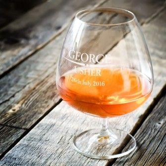 Heritage Wedding Personalised Brandy Glass