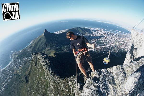Climbing on Table Mountain