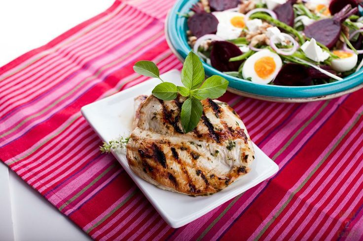 Stripey Basil Chicken