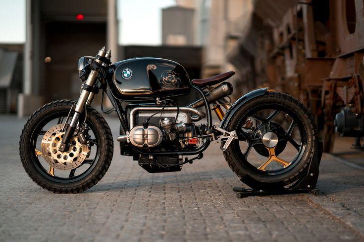 Black Stallion, custom sur une base de BMW R100 RT par National Custom Tech
